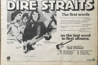 June 6, 1978 – Dire Straits Embarked Their First Album Headline Tour