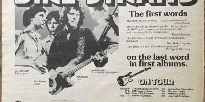 June 6, 1978 – Dire Straits Embarked Their First Album Headline Tour