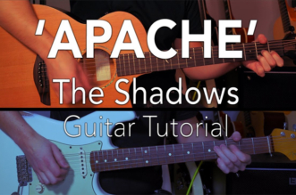 'Apache' – Guitar Lesson Solo Tutorial – The Shadows – Hank Marvin