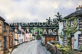 """Grace in the Gutter"" by David Knopfler & Watercolor Time-Lapse Video by Leslie Stroz"