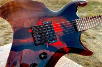 "Burls Art: ""I Built an Epoxy Volcano Guitar"""