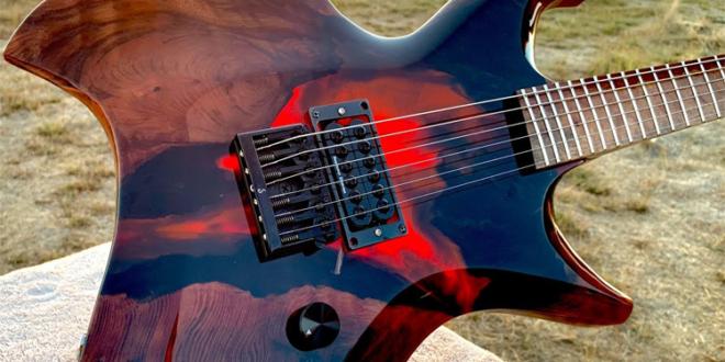 "Burls Art: ""I Built an Epoxy Volcano Guitar"""