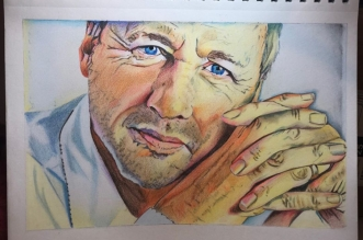 Sonia Figueiredo Has Made a Special Colored Portrait of Mark Knopfler!