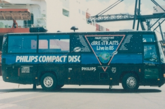 Retro Image: Dire Straits Tour Bus from 1985!