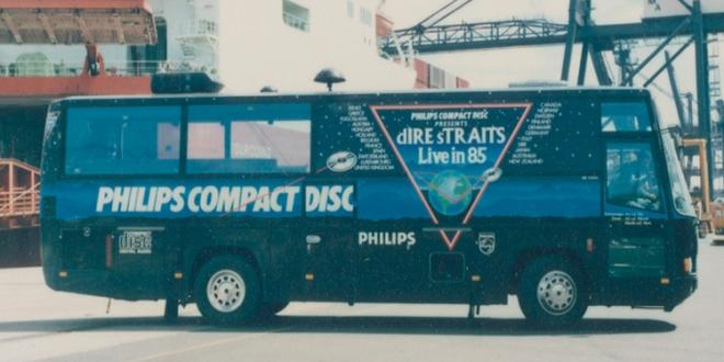 Retro Image: Dire Straits Tour Bus from 1985!