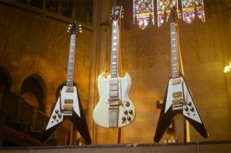 Gibson Unveils Jimi Hendrix 1969 Flying V & 1967 SG Custom