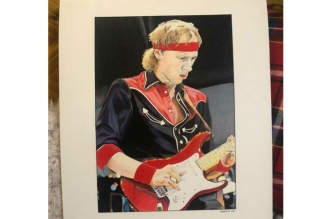 Second Special Colored Portrait of Mark Knopfler by Sonia Figueiredo!