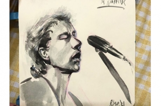 Another Great Drawn Portrait of Mark Knopfler